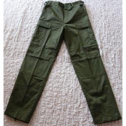 Kalhoty zelené kapsáčové